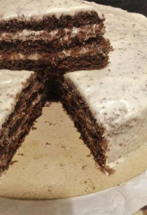 bolo de chocolate buttercream