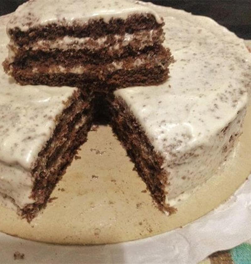 bolo de chocolate buttercream