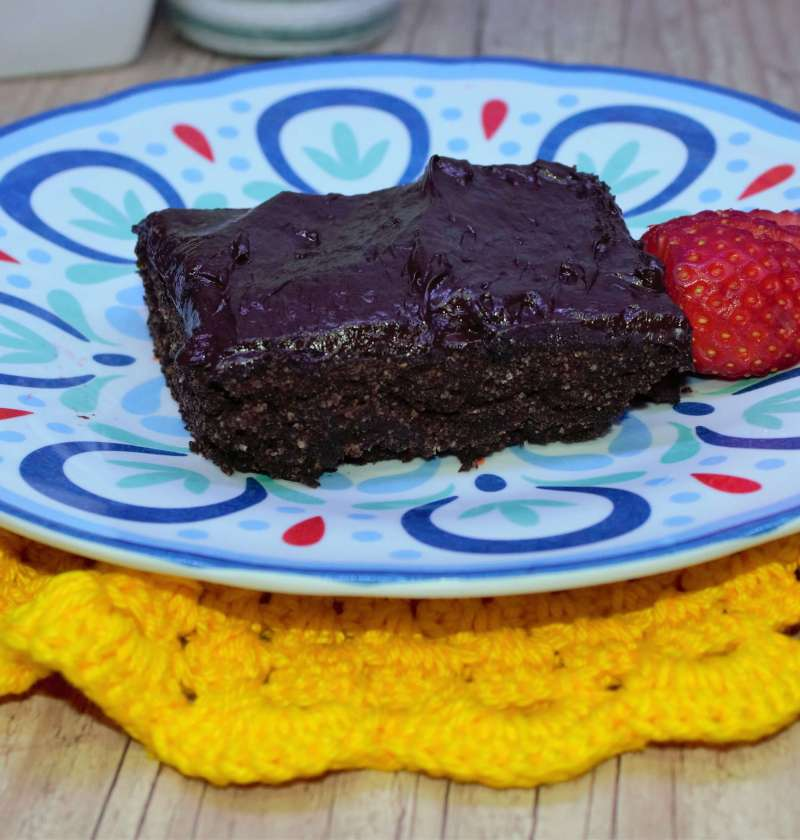 brownie lowcarb de chocolate