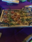 Meadowood's Heirloom Gazpacho. The veggie stuff always goes first!