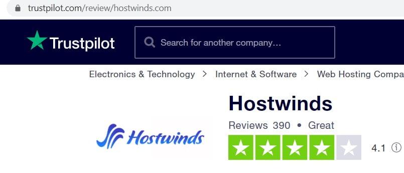 hostwinds review on trustpilot