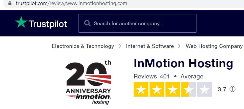 reviews of inmotion hosting
