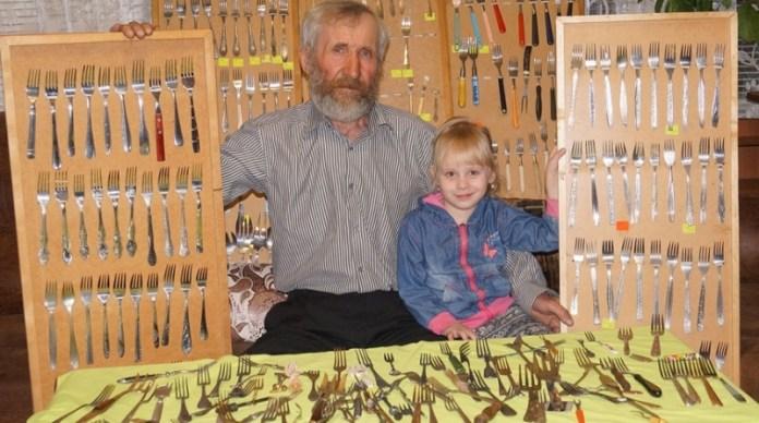 Пенсионер стал рекордсменом благодаря коллекции вилок
