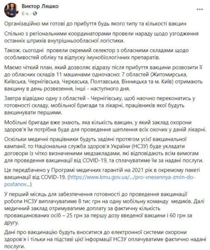 Facebook Виктор Ляшко