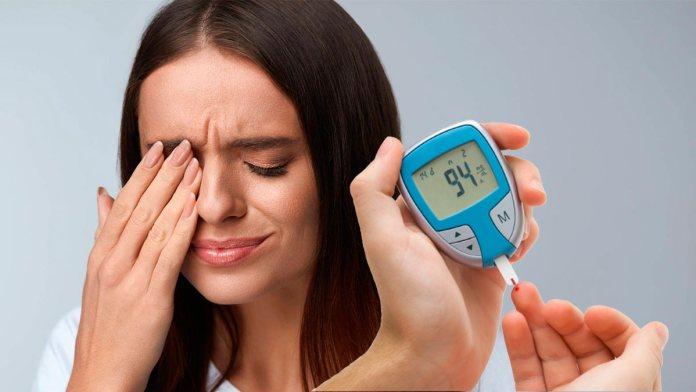 диабет по глазам