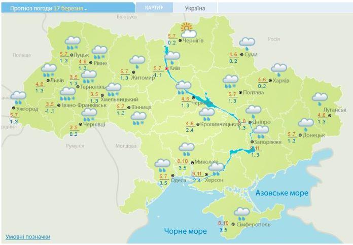 карта Украина