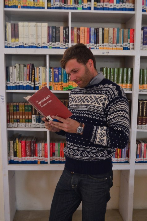 Me reading in the Skardu Library