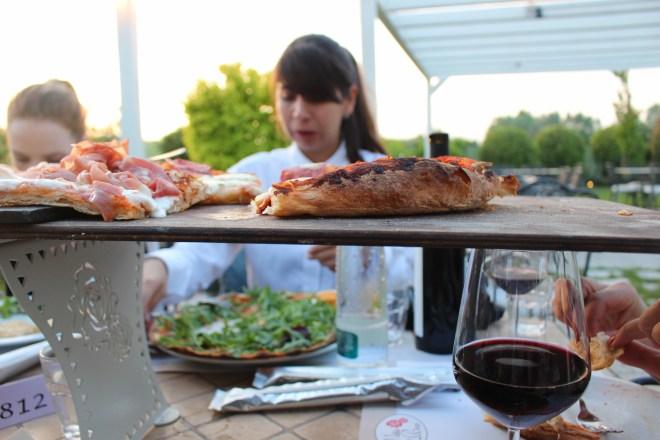 pizza at Villa della Rosa