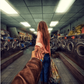 His photography makes even the dingiest of places look magical... a NYC Laundrymat @muradosmann