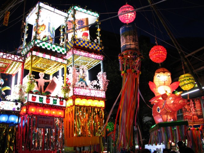 Tanabata festival in Hiratsuka. courtesy of Wikipedia