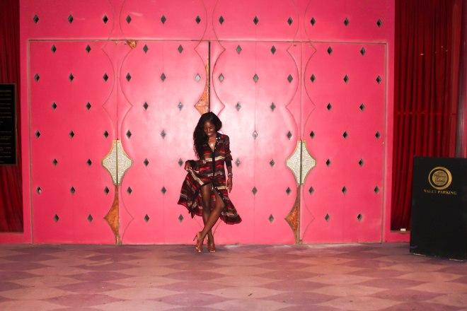 Dress, Harbison // Shoes, Manolo Blahnik.