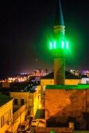 nighttime views of Akko from Efendi hotel