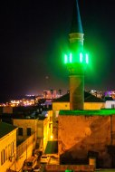 nighttime views of Akko from Efendi hotel