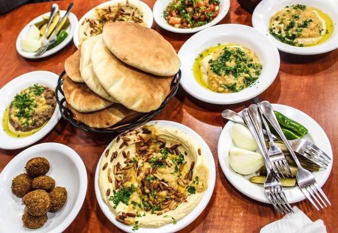 spread at Lina Restaurant