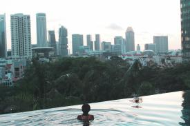 Infinity pool views at the ParkRoyal on Pickering