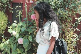 Smelling Flowers in the Gardens
