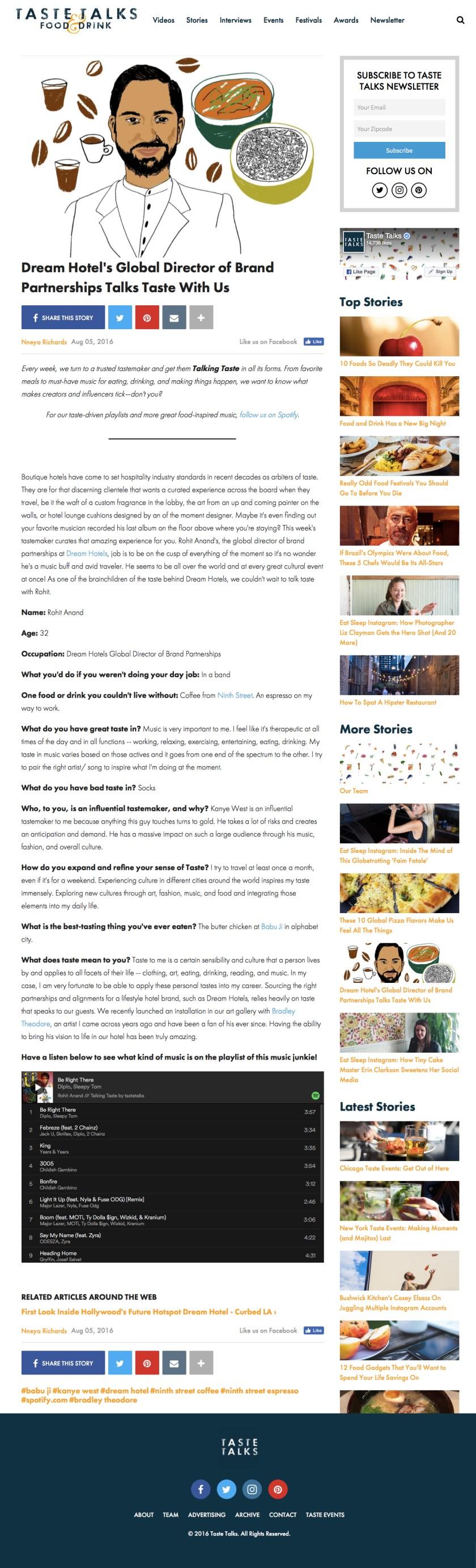 TasteTalks.com - 8.5.16 - Rohit Anand