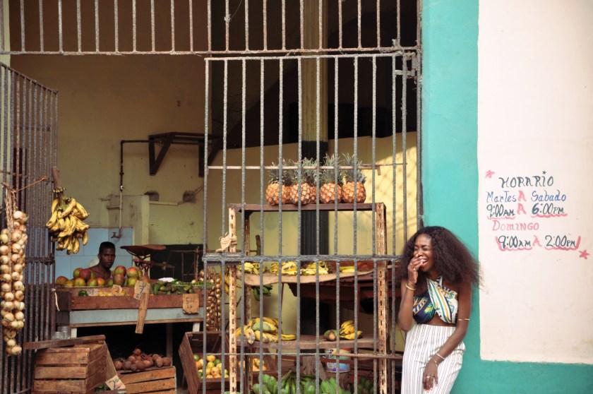 Lauging at the fruitstand havana nneya richards by Alistair Morgan Edited