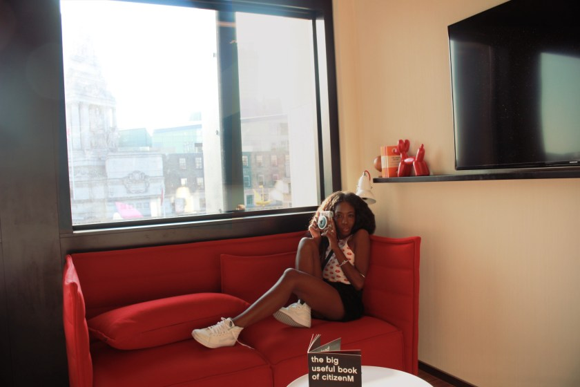 Nneya Richards citizenM hotel room hang