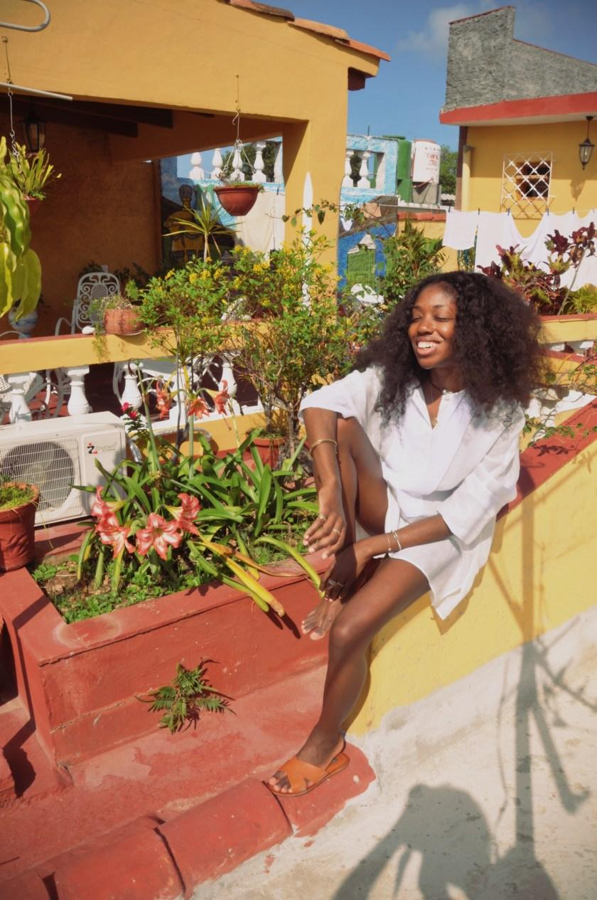 Rooftop in Trinidad Nneya Richards by Jen Estrada