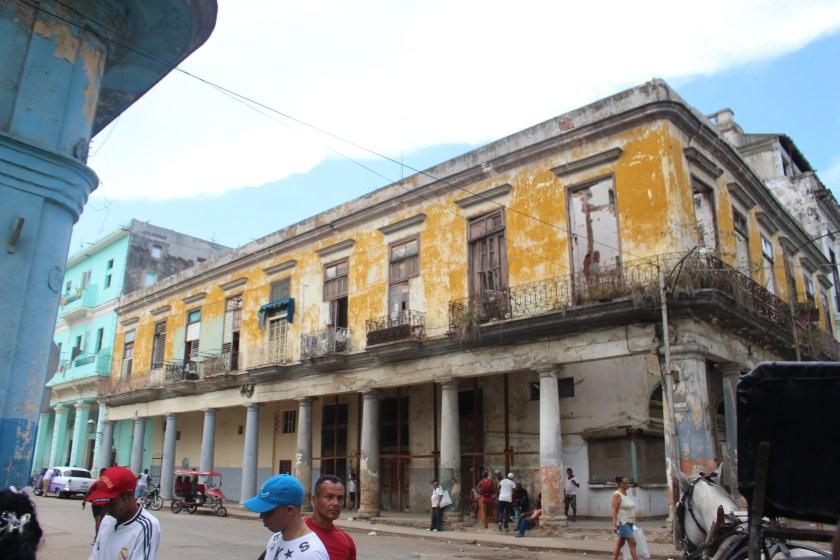 36 Centro Habana Yellow Building by Nneya Richards
