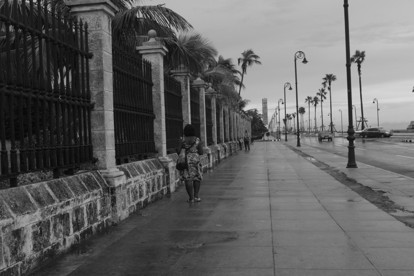 51 Mom black and white on old Habana Malecon by Nneya Richards