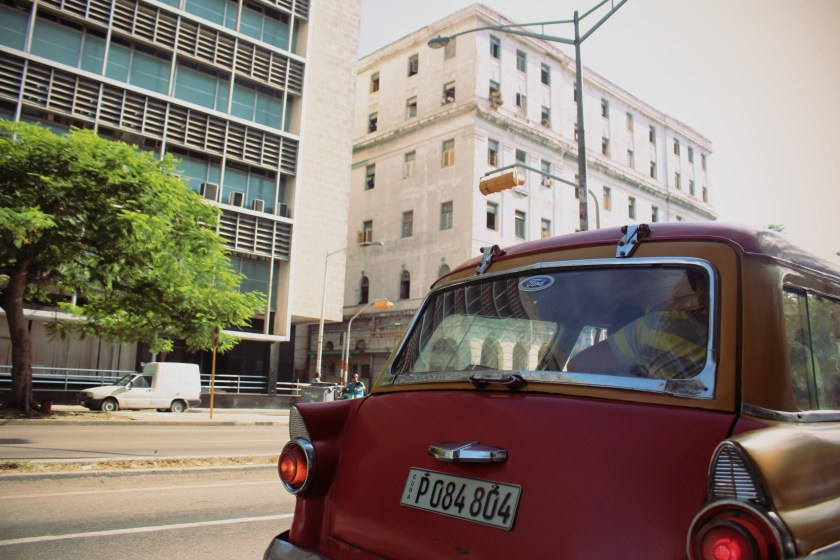 62 Red Car in Havana by Nneya Richards