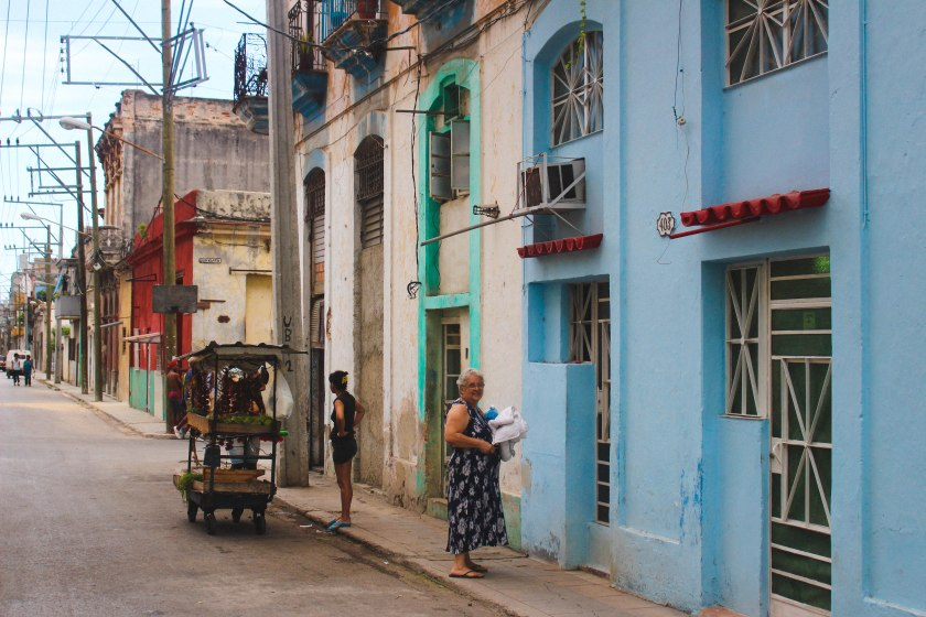 73 centro habana blue wall and old lady by Nneya Richards