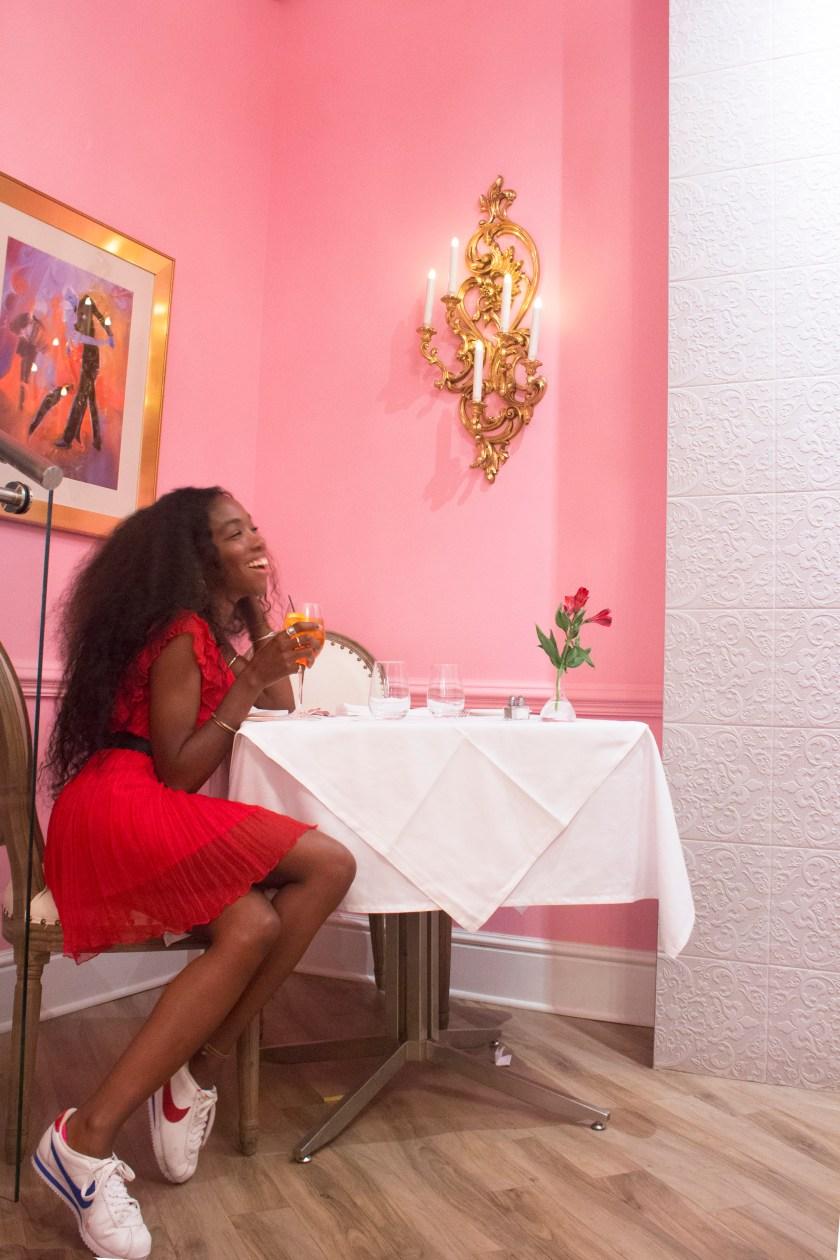 Aperol Spritz in Pink Room by Nneya Richards