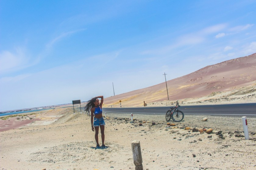 Nneya Richards in Paracas Peru