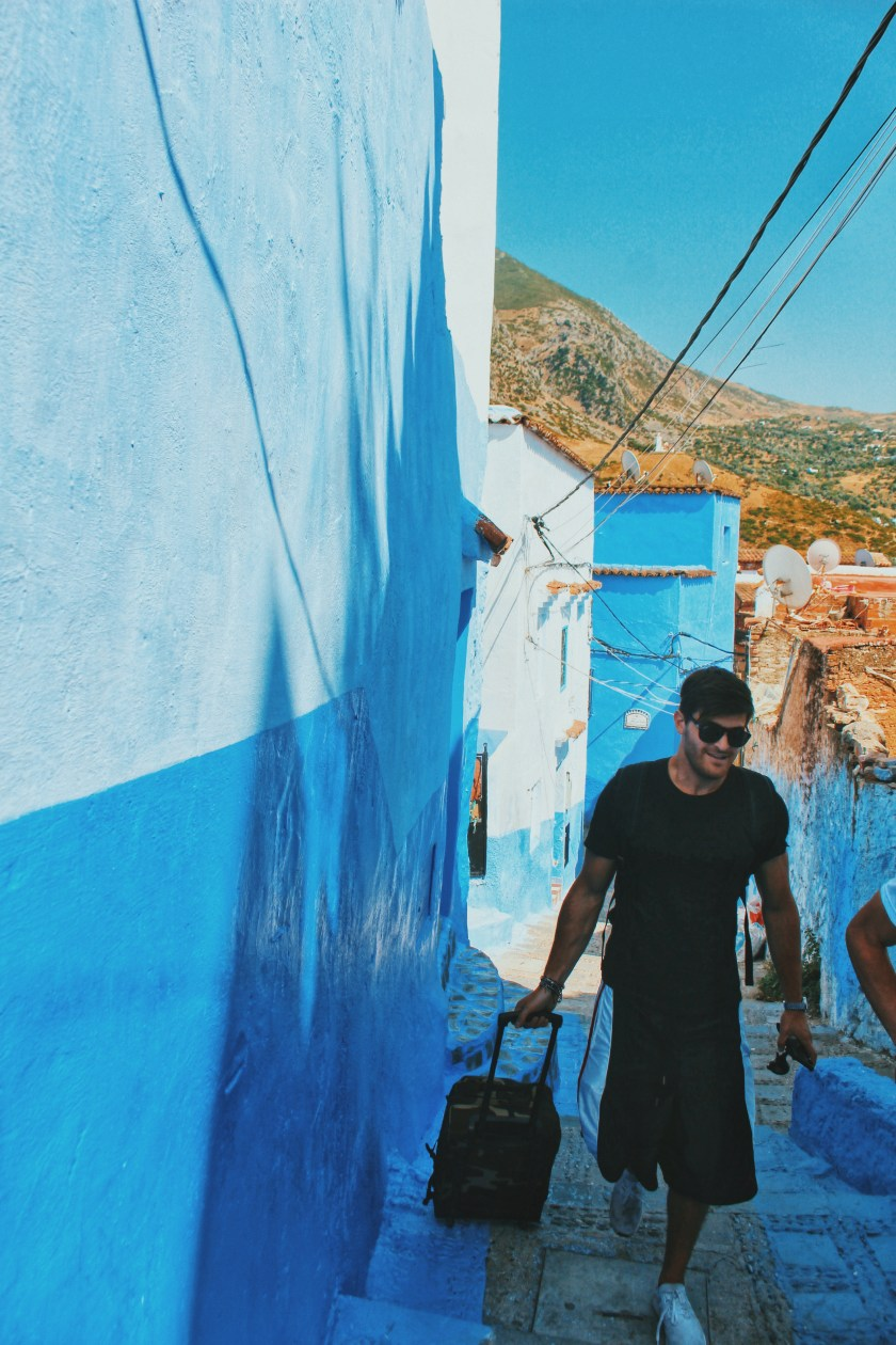 Michele in Alley Chefchaouen
