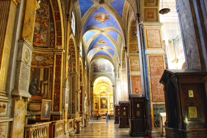 Walking into The Church of San Luigi dei Francesi by Nneya Richards