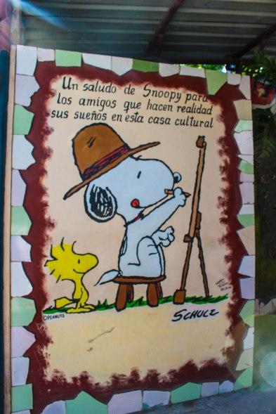 Carl Shulz's Snoopy mural
