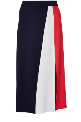 TANYA TAYLOR RED, WHITE AND BLUE GIGI SKIRT