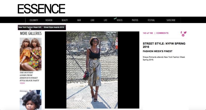 on Essence.com fashion week street style wearing Harbison pants