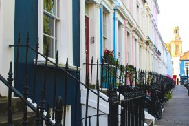 Colorful homes in Chelsea