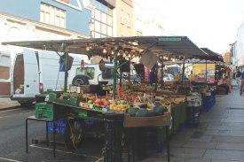 Portobello Market setting up