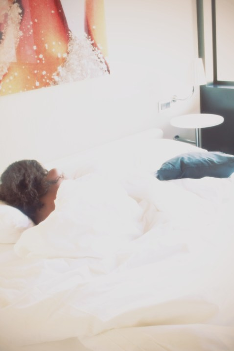 Polaroid sleeping in Nneya Richards
