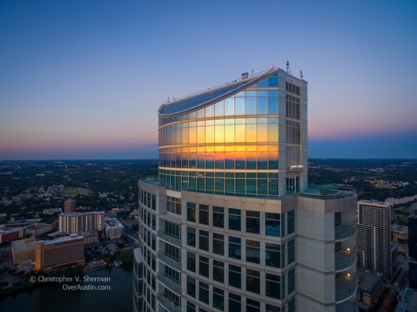 Sunset reflected in the Austonian