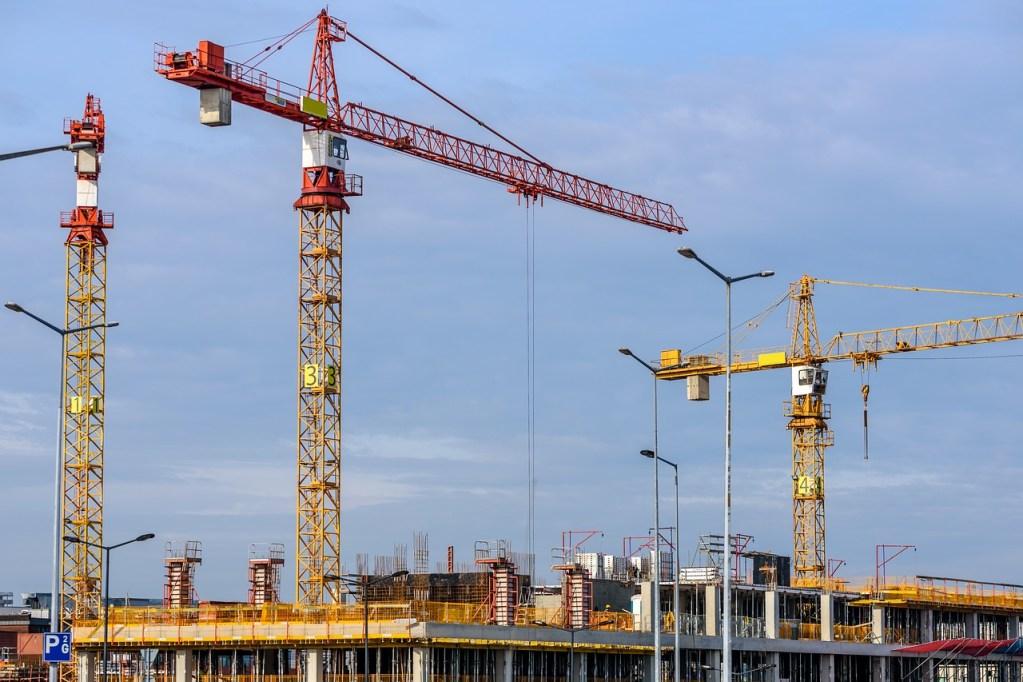 building, the lift, construction site
