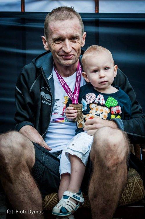 Rafał Bielawa na mecie DFBG. Fot. Piotr Dymus