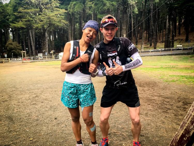 Kamil Leśniak i Mira Rai - nepalska biegaczka ultra odnosząca sukcesy na światowym poletku. Fot. Andrzej Olszanowski