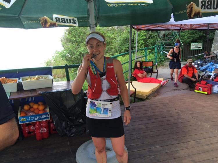 Agnieszka Łęcka na Maratonie Gór Stołowych