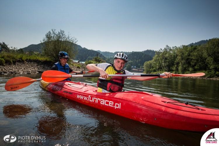 Etap kajakowy na Mountain Touch Challenge. Fot. Piotr Dymus