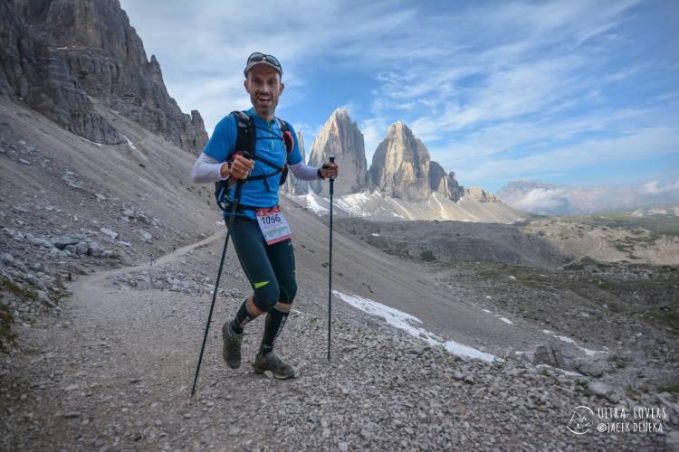 Bartek Mikołajczak na Lavaredo Ultra Trail Fot Ultralovers
