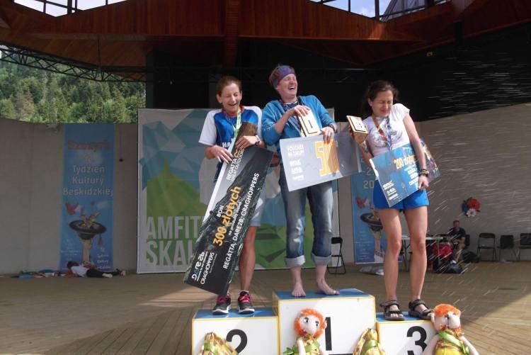 Tamara Mieloch na najwyższym stopniu podium. Fot. Materiały organizatora