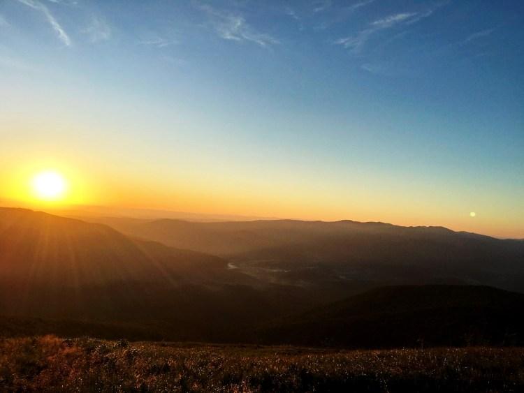 Niebieskie Wyzwanie zachód słońca