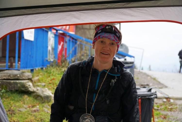 Tamara Mieloch, zwyciężczyni trasy dystansu Ultra, na mecie.