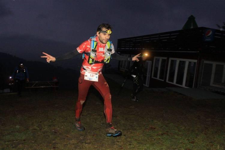 Wojtek Probst - zwycięzca dystansu Ultra nocą. Fot. Marcin Wojnar.
