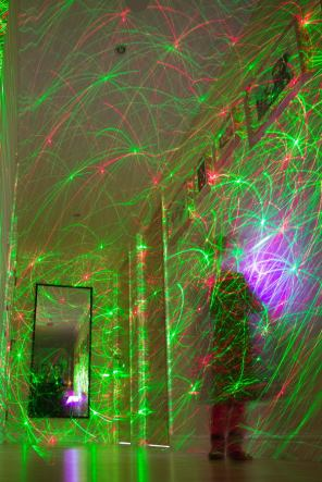February 2013 Laser tunnel, Millennium Drive, London, UK